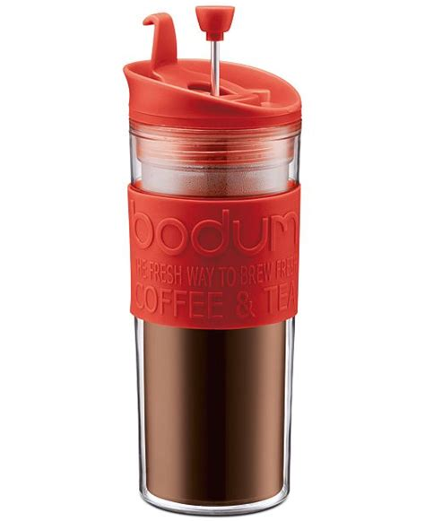 Plunger lid features a stopper for safe drinking. Bodum 15-Oz. Travel Press Coffee Maker & Reviews - Coffee, Tea & Espresso - Kitchen - Macy's