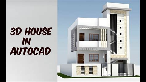 2 Floor 3d House Design In Autocad