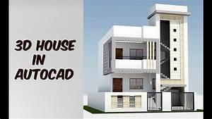 2 Floor 3d House Design In Autocad