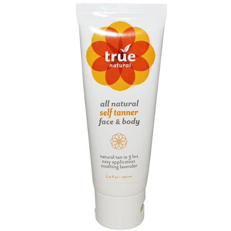 True Natural Anti Aging Face Body Self Tanning Lotion