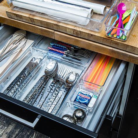 organisateur tiroir cuisine séparateur de tiroir couverts acrylique rangement cuisine