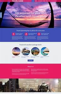 Travel Guide Responsive Wordpress Theme  53990