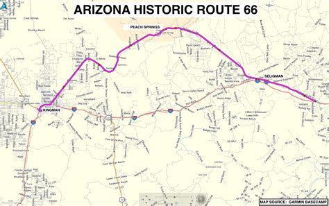 Picture Of Historic Route 66 Arizona Route 66 Map Pictures To Pin On Pinsdaddy