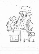 Chimney Sweep Coloring Sweeps Template Pages sketch template