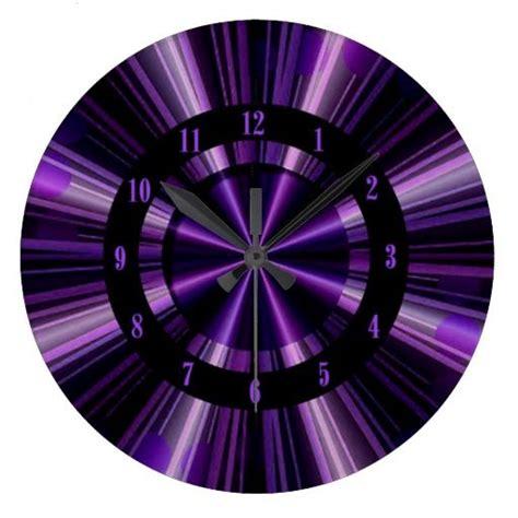 purple rays of light wall clock zazzle com wall clocks