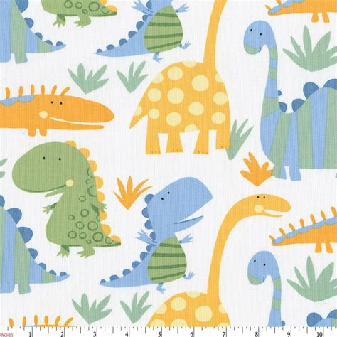 dinosaurs fabric by the yard carousel designs