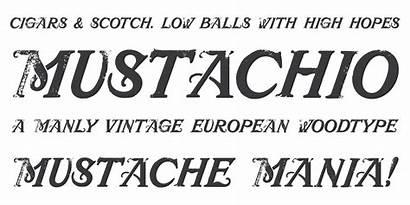 Fonts Mustachio Font Chank Masculine Postcard Attention