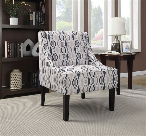light blue accent chair light blue pattern accent chair from coaster 902603