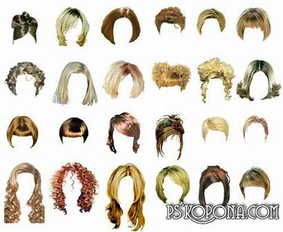 Hair Clipart Hairstyles Clip Styles Photoshop Cliparts