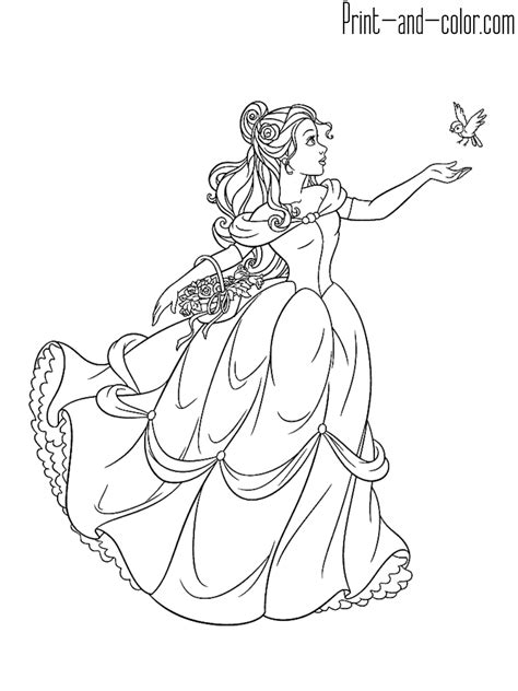 beauty   beast coloring pages print  colorcom
