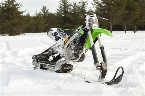 motocross snow bike trading dirt for snow snowbikes