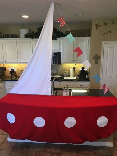 nautical baby shower party ideas sailing boat dessert
