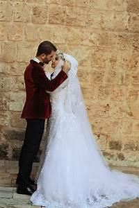 delicate tulle lace appliques arabic wedding dress 2016 With robe de mariée pour femme voilée