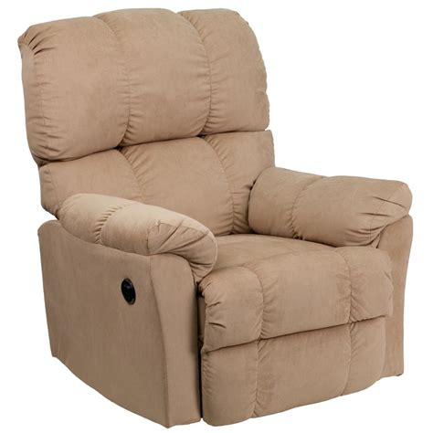 Microfiber Recliner by Flash Furniture Contemporary Top Hat Coffee Microfiber