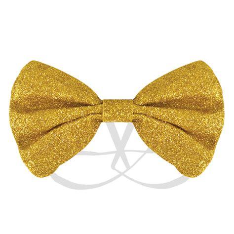 Gold Glitter Bow Tie Fancy Dress | Partyrama