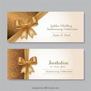 golden wedding anniversary invitations vector free download With golden wedding invitations free downloads
