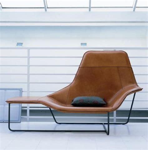 chaise longue lama gain 233 e de cuir pour zanotta mobilier