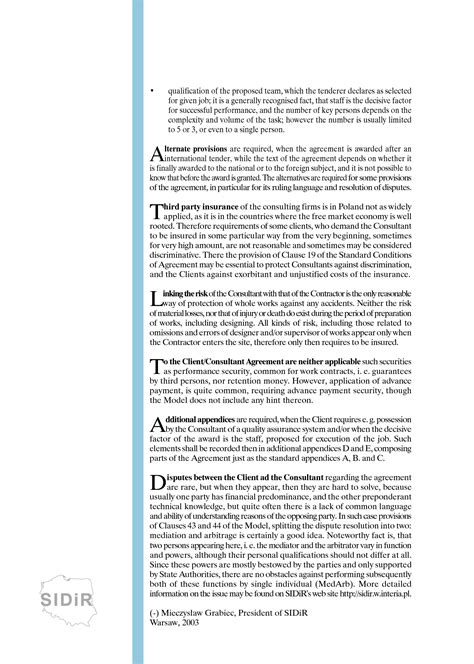 clientconsultant model services agreement  ed