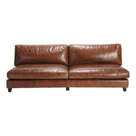 canapé assise profonde canapé vintage 2 3 places en cuir marron nevada maisons