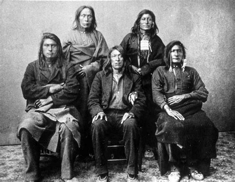 Group Of Nez Perce After Their Surrender In Oct. 1877
