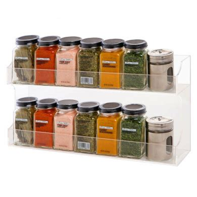 Spice Racks Australia by Clear Acrylic Wall Mounted Counter Top 2 Tier Spice Rack