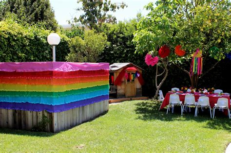 Patio Backyard Party Theme Decorations Decorating The For