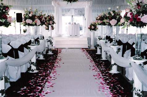 black and white wedding ceremony wedding ceremony pink black pink wedding theme