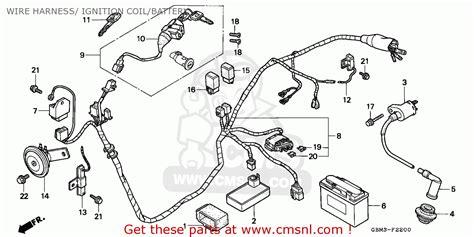 wiring diagram honda sfx honda sfx50 1995 s spain wire harness ignition coil