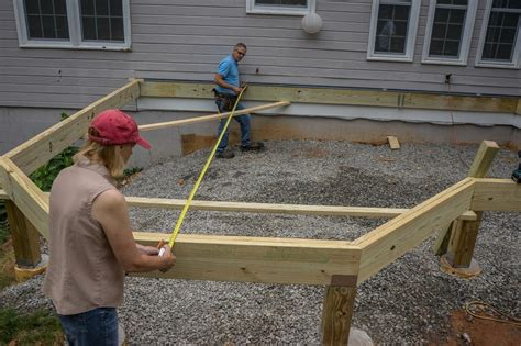 distance between floor joists on a deck decks installing joists on a deck with angles and a