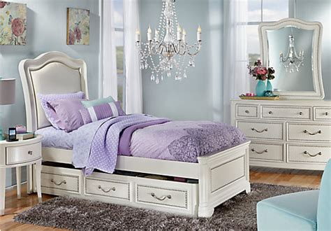 sofia vergara kayla white 5 pc full panel bedroom