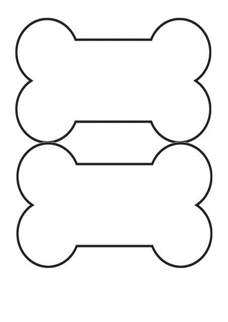 Free Printable Dog Bone Template  Crafts In 2018