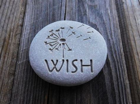 dandelion engraved stones valentines day