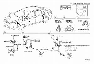 2014 Toyota Camry Abs Wheel Speed Sensor Wiring Harness