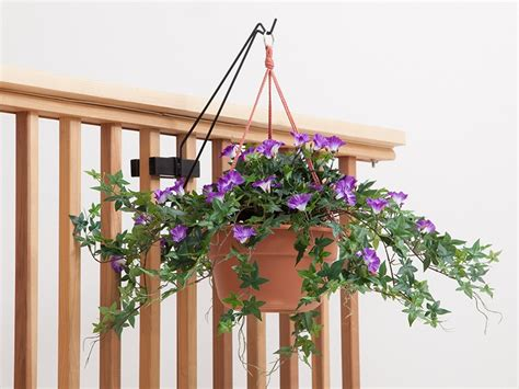 railing mount hanging basket  birdhouse hook