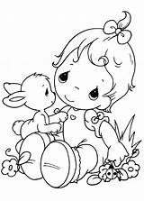 Precious Moments Coloring Pages Baby Printable Easy Moment Boy Colouring Colour Cute Procoloring Adults Easter sketch template