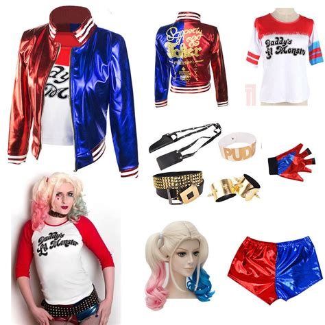harley quinn kostüm für kinder squad harley quinn s coat lil jacket shirts lot ebay