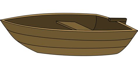 Simple Clipart Boat by Free Vector Graphic Boat Wood Rowing Simple Small