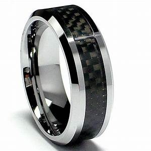 Wedding rings carbon fiber wedding rings for Carbon fibre wedding ring