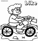 Bike Coloring Pages Print Coloringway sketch template
