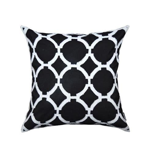 black and white decorative pillows a1hc black and white geometric pattern decorative pillow