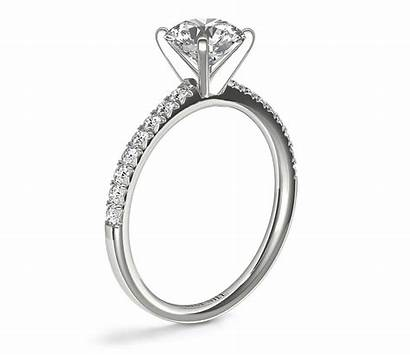 Ring Engagement Gold Diamond Side French Yellow