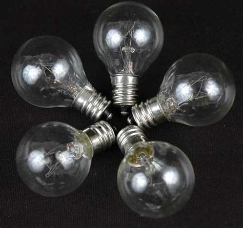 clear satin g30 globe outdoor string light set on
