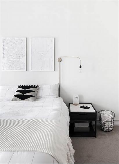 Bedroom Minimal Scandinavian Minimalist Interior Modern Monochrome