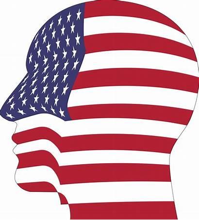 Clipart Flag American Pattern Head Clip America