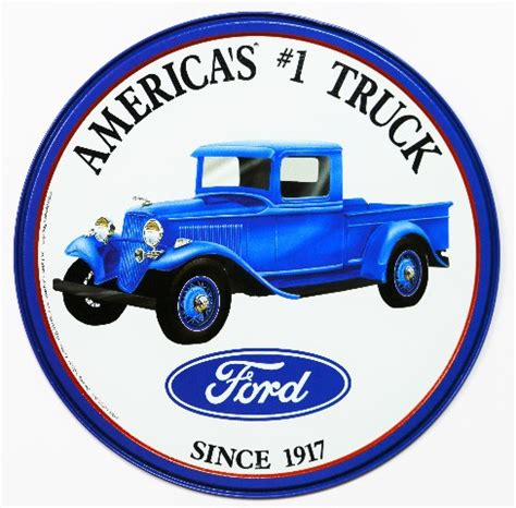ford americas  truck tin metal sign   series garage