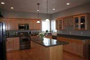golden oak cabinets taupe kitchen kitchens glidden With beige and taupe kitchen