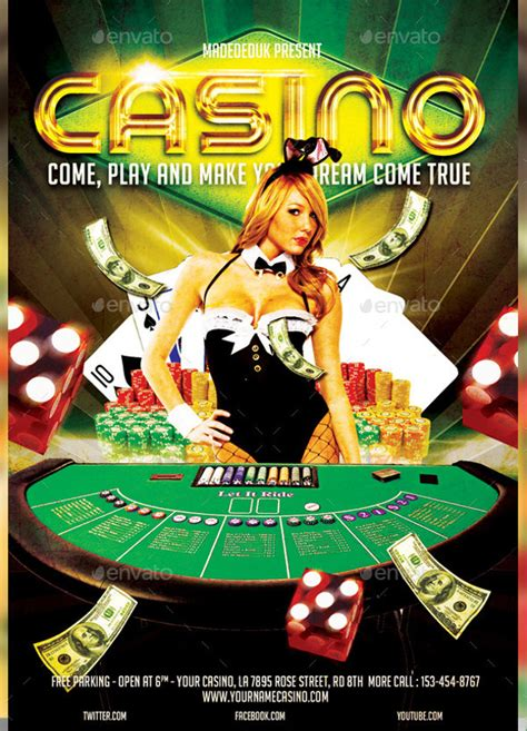 casino flyer templates  psd vector eps