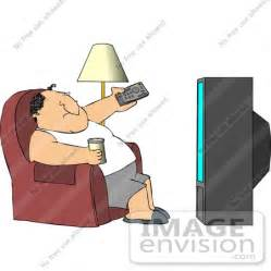 Man Watching TV Clip Art