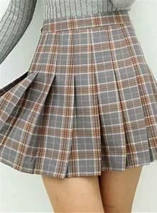 Pleat Box Light Fashion Plaid Pattern Pleated Mini Skirt Victoriaswing