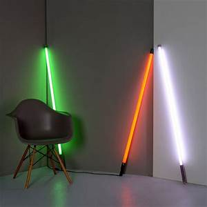 Floor lamps fluorescent tube fluorescent neon decor for Floor lamp with tube light